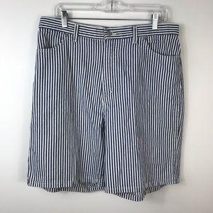 Vtg High Waisted Striped Mom Jean Shorts